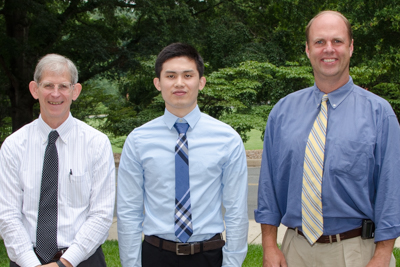 Dr. Jie Liu with Profs Bourland and Munley