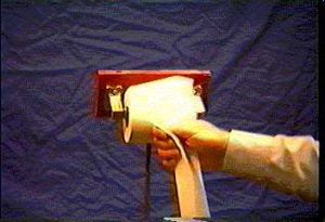 Person pulling from a toilet paper roll