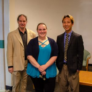 Lauren Nelson, M.S. with Prof. Shapiro and Prof. Cho