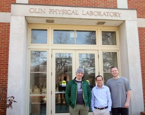 Paul Anderson together with graduate student Ritchie Dudley and undergraduate student Ray Clark.